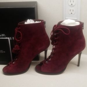 COACH NY Lena Lux suede booties (size 7.5B)
